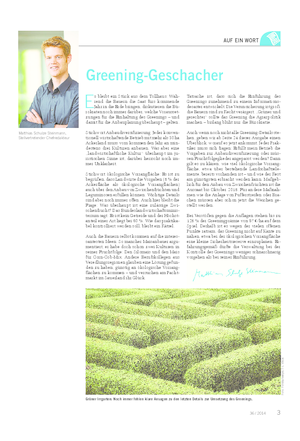 Greening-Geschacher